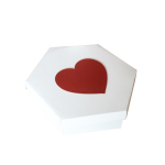 Caixa Red Heart 30x30x8cm