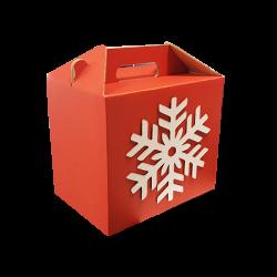 Cabaz de Natal L Snowflake 35x23x29cm