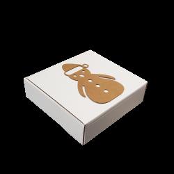 Caixa Araco Brown Snowman 20x20x6cm