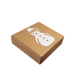 Caixa Araco White Snowman 20x20x6cm