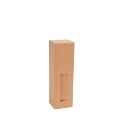 Caixa p/ 1 Garrafa c/janela XS 7x7x22 cm