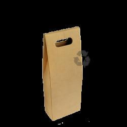 Caixa p/ 2 Garrafas de Vinho 15x7x35cm Recycled